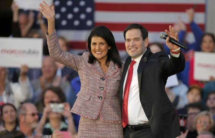 2016 Republican Ticket - Marco Rubio & Nikki Haley
